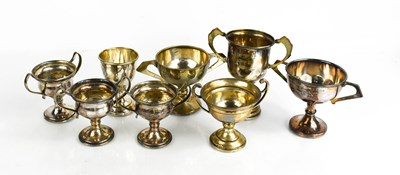 Lot 37 - A group of silver and silver plated trophies.