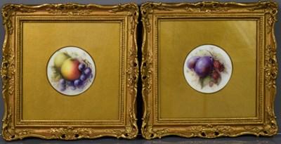 Lot 24 - A pair of Royal Worcester porcelain plaques,...