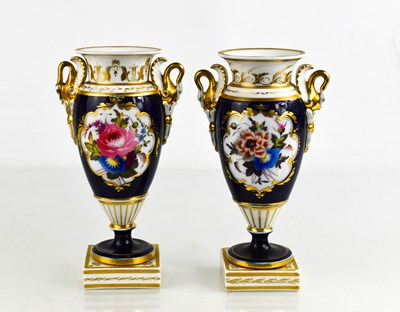 Lot 23 - A pair of Chamberlain Royal Worcester pedestal...