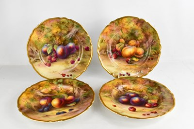Lot 9 - A set of four Royal Worcester plated by Horice...