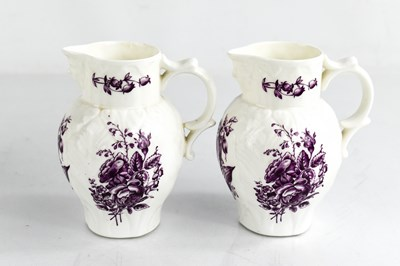 Lot 42 - A Royal Worcester pair of small jugs, modelled...