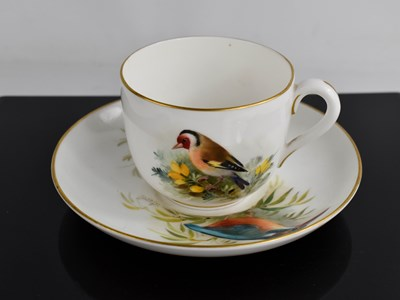 Lot 44 - A Royal Worcester tea cup and saucer, by...