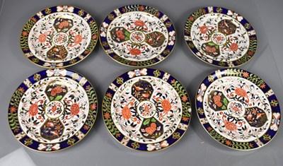 Lot 40 - Twelve Royal Crown Derby plates, six 26cm...
