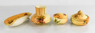 Lot 40A - Four pieces of Royal Worcester, to include two...