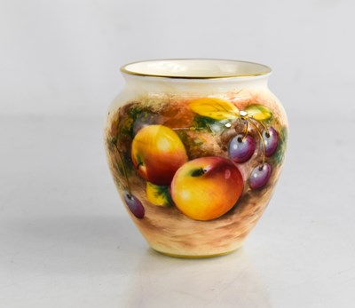 Lot 41A - A Royal Worcester vase, painted with fruits...
