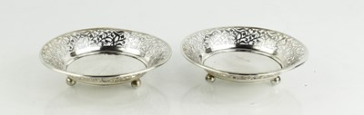 Lot 28 - A pair of silver W Greenwood & Son dishes with...