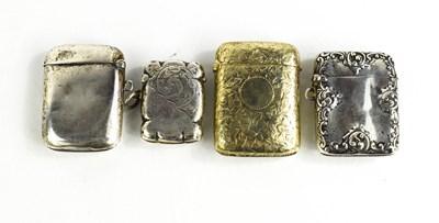 Lot 44 - Three silver vesta cases, of various size and...